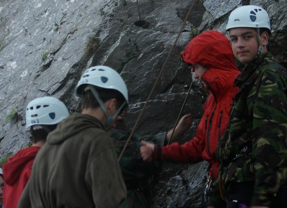 Rock climbing lesson