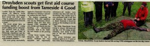 Outdoor First Aid course in the news